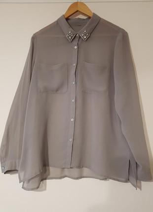 🔥ценопад🔥sale🔥 🖤 стильная рубашка серого цвета🖤