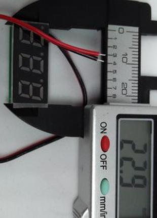 Цифровой вольтметр в корпусе и без корпуса для автомобиля
