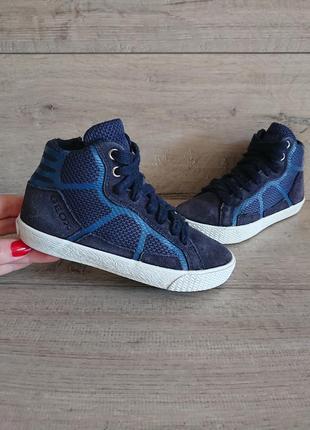 Ботинки хай-топы geox 28р  замш  текстиль