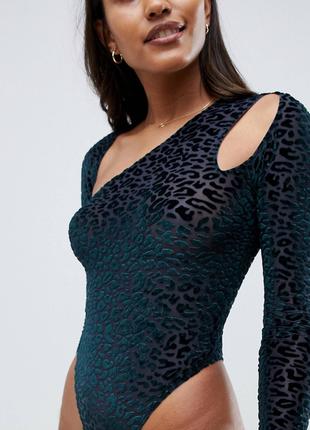 🌿стильна блуза -боді з леопардовим принтом  asos