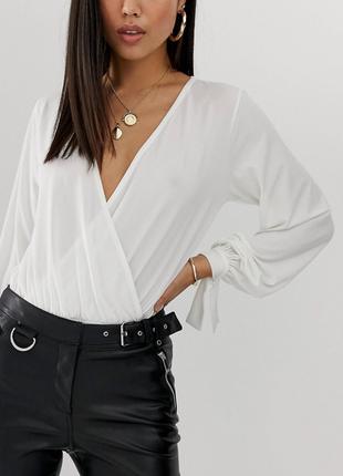 🌿дуже гарна блуза- боді на запах з сайту asos