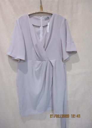 Стильное платье на запах/с драпировкой