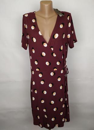 Платье трикотажное новое шикарное в горохи f&f uk 14/42/l