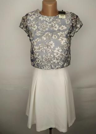 Новое шикарное кружевное платье маленький размер miss selfridg...