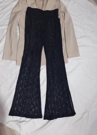 Кружнвные прозрачные брюки штаны