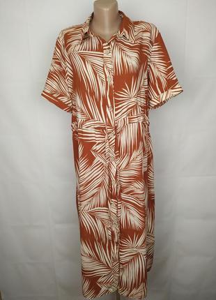 Платье стильное в тропический принт new look uk 14/42/l