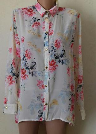 Красивая блуза-рубашка с принтом atmosphere