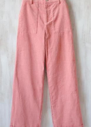 Вельветовые брюки forever 21 нежного оттенка, широкие к низу, ...