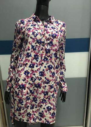 Платье туника в цветочный принт  joules