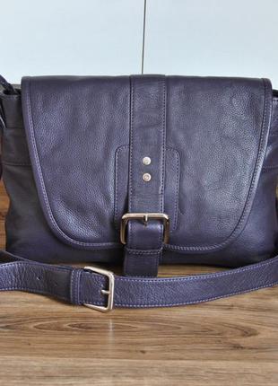 Кожаная сумка кроссбоди hotter / шкіряна сумка