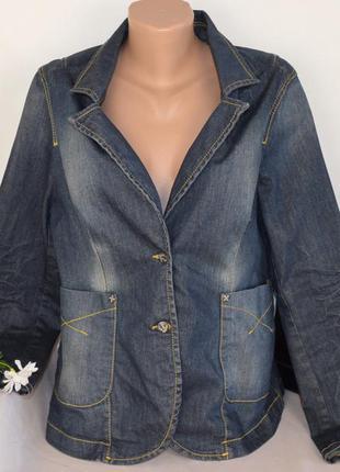Брендовый джинсовый пиджак жакет с карманами didi турция