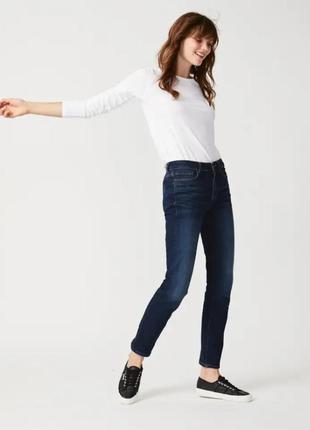 Р 10 / 44-46 стильные базовые синие джинсы бойфренды штаны брю...