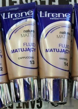Lirene nature matte foundation матирующий тональный крем