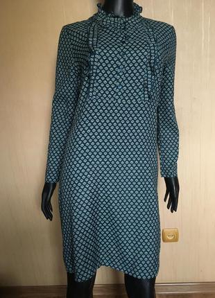 Натуральное платье в принт индия