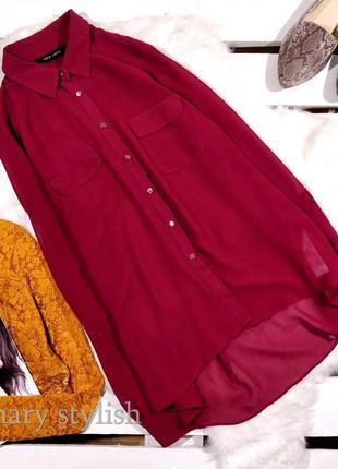 Шифоновая блузка цвет более вишня
