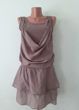 Платье мини,туника/натуральный шелк/италия