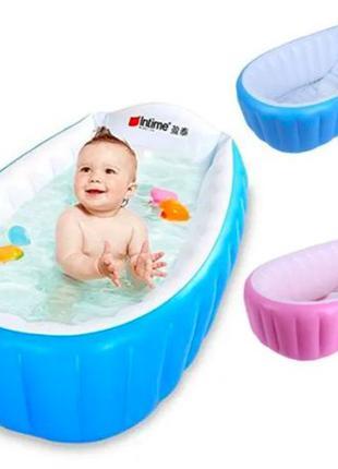 Надувная детская ванночка с насосом 98X65X28 см Intime Baby Ba...