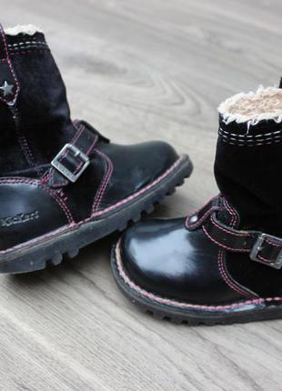 Сапожки kickers black натур. кожа 26 размер
