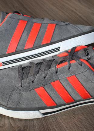 Кроссовки adidas neo натур. замш 44-45 размер оригинал!