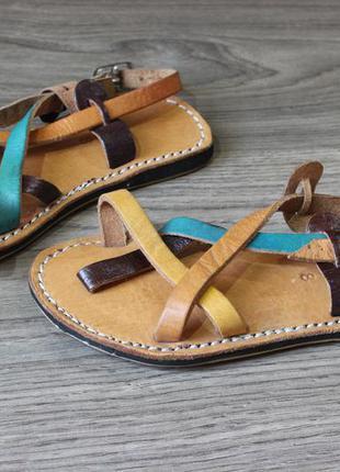 Кожаные босоножки сандалии 25-26 размер