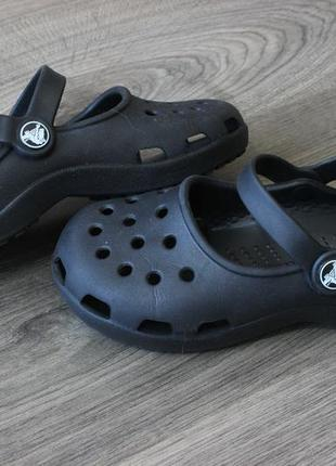 Босоножки сандалии crocs black оригинал 32-33 размер