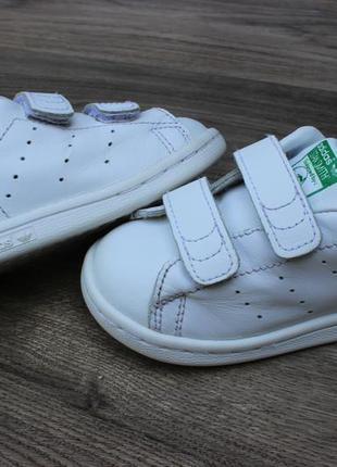 Кожаные кроссовки adidas stan smith на липучках 21 размер