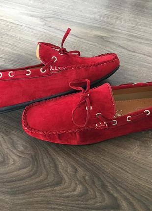 Мокасины туфли galax paris red 42 размер
