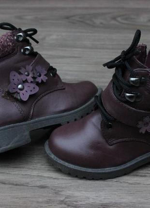 Деми ботинки f&f bordo 24-25 размер