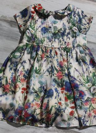 Цветочное платье на 2-3 года