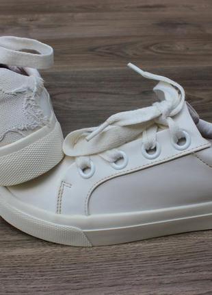 Белые кеды zara оригинал 38 размер