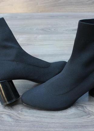 Стрейчевые ботинки ботильоны zara 37 размер оригинал