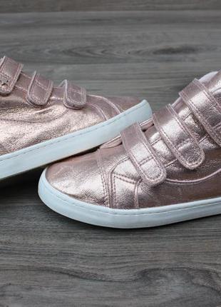 Золотистые кеды ботинки tu на липучках 35-36 размер