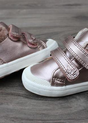 Ботинки с липучками золотистые next 21 размер