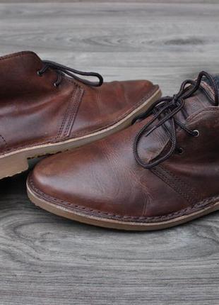 Ботинки дезерты jack jones утепленные натур. кожа 41-42 размер