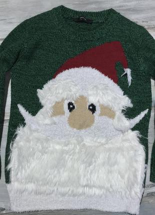 Новогодний свитер с дедом морозом george 4-5 лет