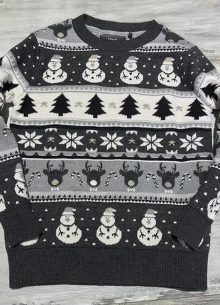 Новогодний свитер кофта next 5 лет