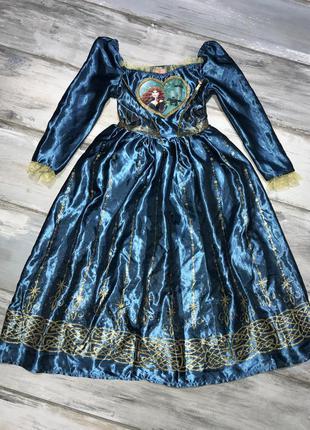 Платье принцессы мерида disney 7-8 лет