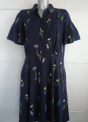 Платье от hobbs с принтом красивых цветов на подкладке