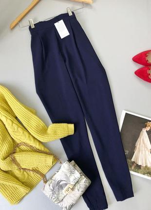 Актуальные брюки высокой посадки на резинке m&s