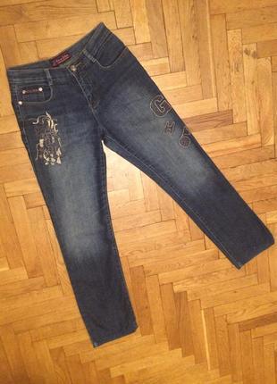 Стильные джинсы с вышивкой,clever zebra