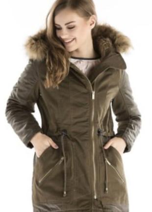 Куртка,парка ,хаки amisu
