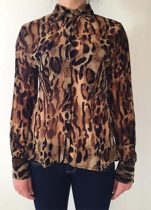 Рубашка, блуза, тренд 2020, тваринний принт, леопардовая рубашка.