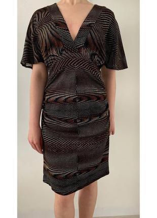 Сукня, плаття коричневе з принтом.
