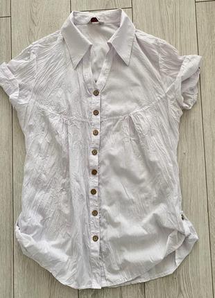 Белая рубашка, летняя рубашка, белая блуза.