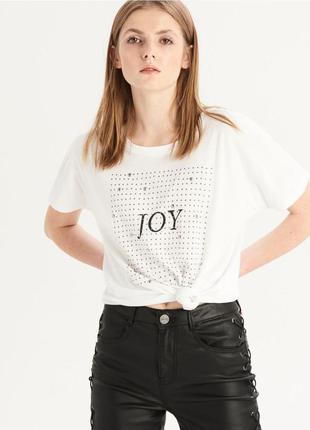 Женская футболка sinsay c надписью joy 1018