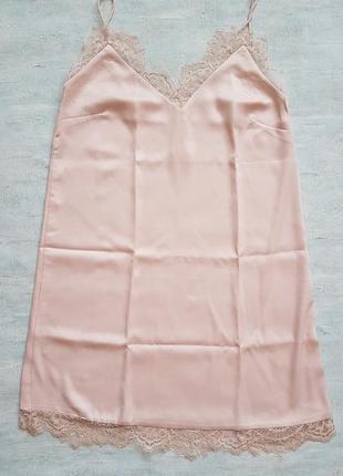Сексуальное кружевное платье h&m в бельевом стиле