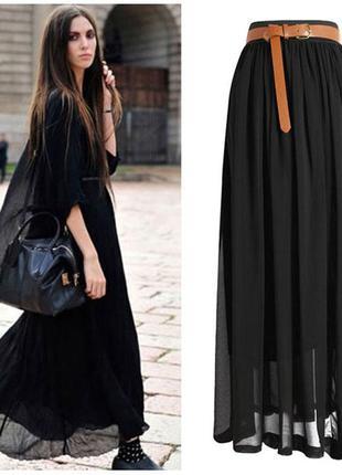 18 шифоновая юбка