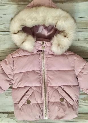 Качественная демисезонная куртка для девочки 6-9-12 мес