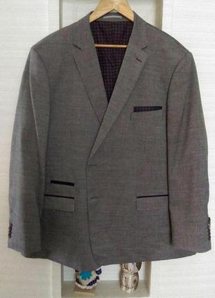 Модный мужской пиджак блейзер большого размера
