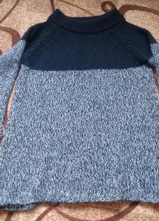 Теплый вязаный свитер джемпер пуловер кофта